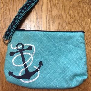 Thirty One mini zipper pouch & key tag combo